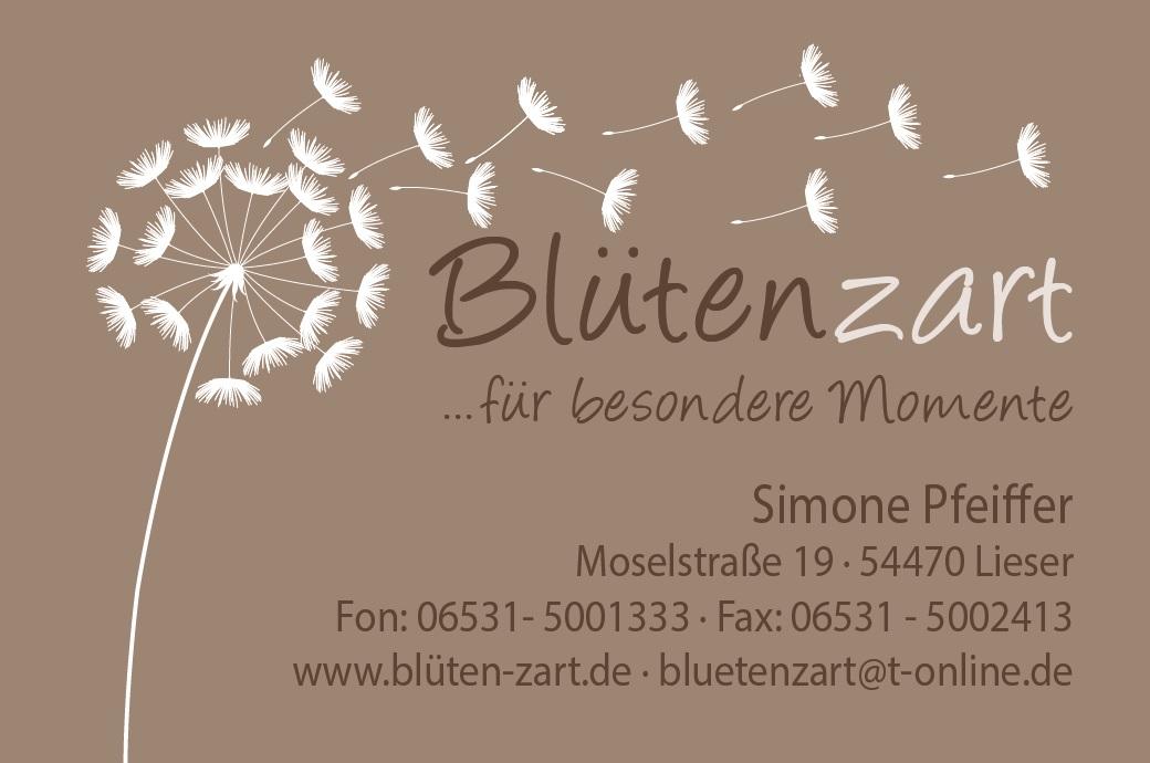 Logo Blumengeschäft Blütenzart